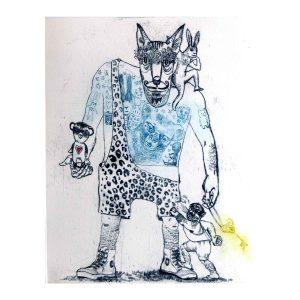 047 hand printed character artworks